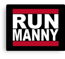Run Manny T Shirt for Floyd Mayweather Fans Canvas Print