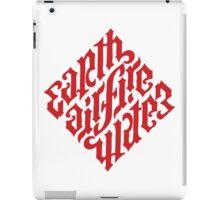 Earth, Air, Fire, Water - Illuminati Ambigram iPad Case/Skin