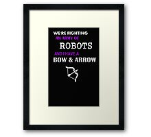 hawkeye keeping it real Framed Print