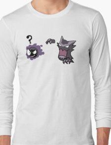 Haunter Uses Scary Face... Long Sleeve T-Shirt