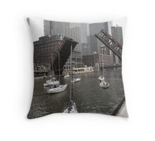 Sail Boat Migration Throw Pillow