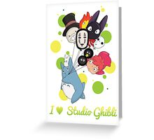 I ♥ Studio Ghibli Greeting Card