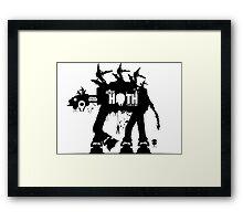 Battle Of Hoth - Star Wars ATAT Framed Print