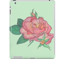 Ink and Watercolor Rose iPad Case/Skin