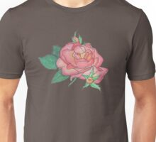 Ink and Watercolor Rose Unisex T-Shirt