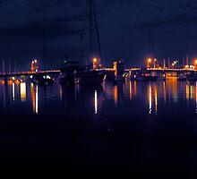 Lights on Eastport by Nelson  Ramm