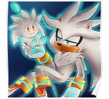Silver the Hedgehog (Sonic the Hedgehog) Poster