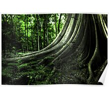 Tree at the brush Poster