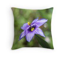 Idaho Blue-Eyed Grass Throw Pillow