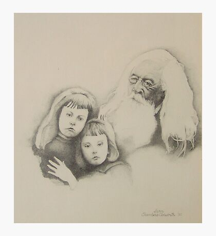 Old Man and Children Photographic Print