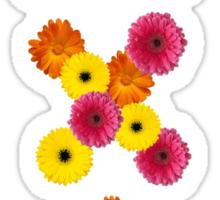 alpha chi omega flower letters Sticker