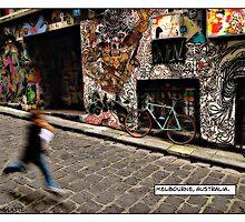 Alleyway, Melbourne Comicography by djskinnylatte