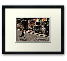 Alleyway, Melbourne Comicography Framed Print