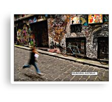 Alleyway, Melbourne Comicography Canvas Print