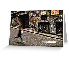 Alleyway, Melbourne Comicography Greeting Card