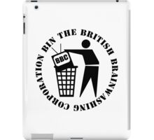 Bin The British Brainwashing Corporation iPad Case/Skin