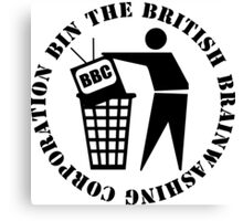 Bin The British Brainwashing Corporation Canvas Print