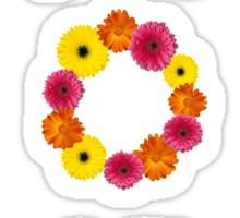 aopi Alpha omicron pi flower letters Sticker