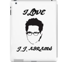 I Love JJ Abram  iPad Case/Skin