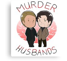 MURDER HUSBANDS FTW Canvas Print