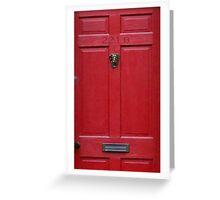 221 Baker Street (red) Greeting Card