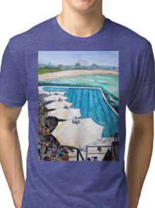 Umbrellas-Bondi Icebergs Tri-blend T-Shirt