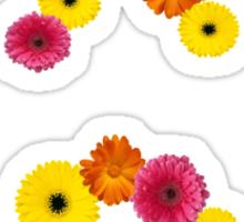 Chi omega flower letters Sticker