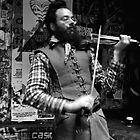 Fiddler in Centre Lane Melbourne by Andrew  Makowiecki