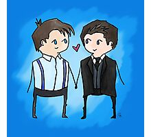 Jack And Ianto Chibis Photographic Print