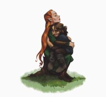 Kiliel: Tauriel and Kili from the Hobbit on a Tree Stump One Piece - Long Sleeve