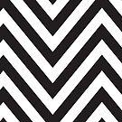 MODERN CHEVRON PATTERN bold monochrome black + white by Kat Massard