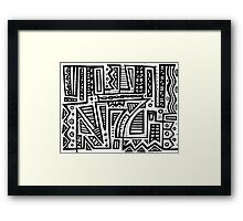 Erven Abstract Expression Black and White Framed Print
