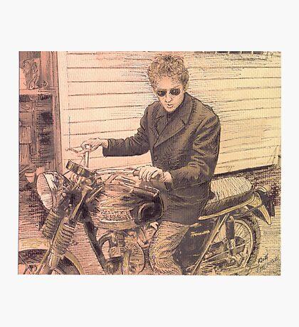 PORTRAIT OF BOB DYLAN Photographic Print