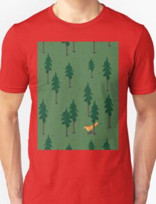 Fox in the woods. Unisex T-Shirt