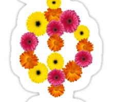 gamma phi beta flower letters Sticker