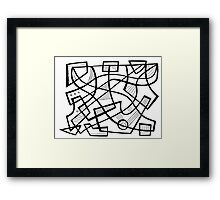 Mcvey Abstract Expression Black and White Framed Print