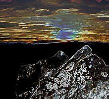 Rock Art Sunset by Jon  Johnson