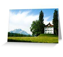 Richard Wagner House - Lucerne, Switzerland Greeting Card