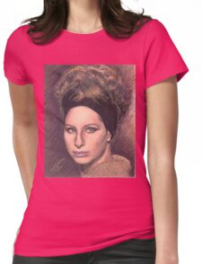 PORTRAIT OF BARBRA STREISAND Womens Fitted T-Shirt
