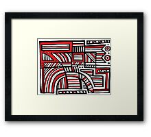 Try Abstract Expression Red White Black Framed Print