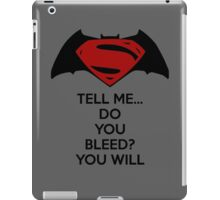 Batman v Superman - Do You Bleed iPad Case/Skin