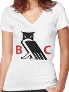 Bohemian Club - Moloch Owl - Cremation of Care Women's Fitted V-Neck T-Shirt