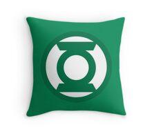 Green Lantern Logo Throw Pillow