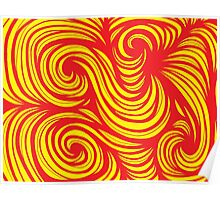 Huguenin Abstract Expression Yellow Red Poster