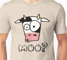 Moo? (light colours) Unisex T-Shirt