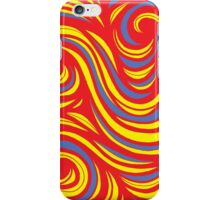 Cahill Abstract Expression Yellow Red Blue iPhone Case/Skin