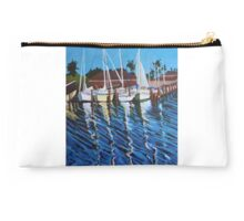 """124. """"The Boats in Little Bay. (Rockport, TX)."""" Studio Pouch"""