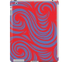 Aughe Abstract Expression Red Blue iPad Case/Skin