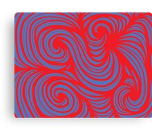 Aughe Abstract Expression Red Blue Canvas Print