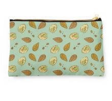 Nuts almonds and pistachios pattern Studio Pouch